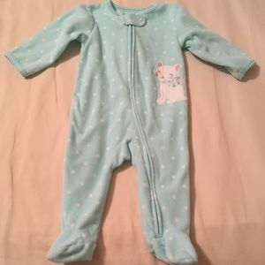 Fleece footie 6 mos